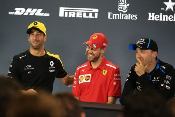 World © Octane Photographic Ltd. Formula 1 - Australian GP Thursday FIA Driver Press Conference. Renault Sport F1 Team RS19 – Daniel Ricciardo, Scuderia Ferrari SF90 – Sebastian Vettel and ROKiT Williams Racing – Robert Kubica. Thursday 14th Melbourne, Australia. Thursday 14th March 2019