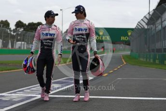 World © Octane Photographic Ltd. Formula 1 – Australian GP. SportPesa Racing Point RP19 - Sergio Perez and Lance Stroll. Albert Park, Melbourne, Australia. Wednesday 13th March 2019.