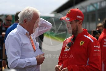 World © Octane Photographic Ltd. Formula 1 – Australian GP. Scuderia Ferrari SF90 – Sebastian Vettel and Charlie Whiting – FIA Race Director. Albert Park, Melbourne, Australia. Wednesday 13th March 2019.