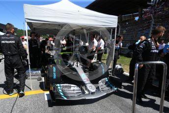 World © Octane Photographic Ltd. Formula 1 – Austrian GP - Grid. Mercedes AMG Petronas Motorsport AMG F1 W10 EQ Power+ - Valtteri Bottas. Red Bull Ring, Spielberg, Styria, Austria. Sunday 30th June 2019