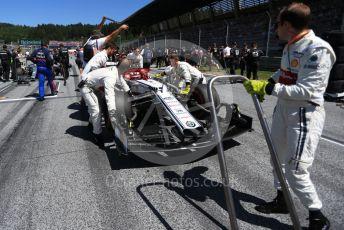 World © Octane Photographic Ltd. Formula 1 – Austrian GP - Grid. Alfa Romeo Racing C38 – Kimi Raikkonen. Red Bull Ring, Spielberg, Styria, Austria. Sunday 30th June 2019