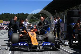 World © Octane Photographic Ltd. Formula 1 – Austrian GP - Grid. McLaren MCL34 – Carlos Sainz. Red Bull Ring, Spielberg, Styria, Austria. Sunday 30th June 2019