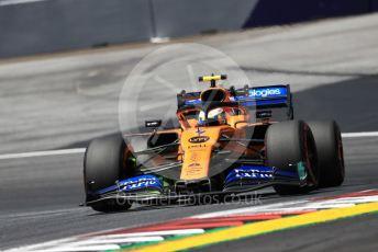 World © Octane Photographic Ltd. Formula 1 – Austrian GP - Practice 1. McLaren MCL34 – Lando Norris. Red Bull Ring, Spielberg, Styria, Austria. Friday 28th June 2019.