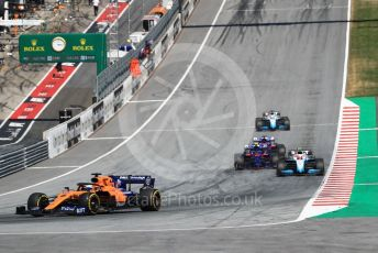 World © Octane Photographic Ltd. Formula 1 – Austrian GP - Race. McLaren MCL34 – Lando Norris. Red Bull Ring, Spielberg, Styria, Austria. Sunday 30th June 2019