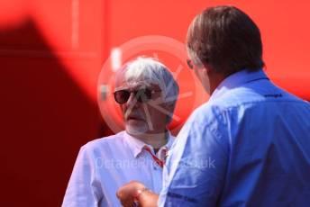 World © Octane Photographic Ltd. Formula 1 - Austrian GP - Paddock. Bernie Ecclestone. Silverstone Circuit, Towcester, Northamptonshire. Sunday 14th July 2019.
