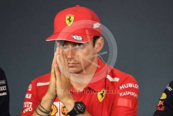 World © Octane Photographic Ltd. Formula 1 – Austrian GP - Paddock. FIA Drivers Press Conference. Scuderia Ferrari SF90 – Charles Leclerc. Red Bull Ring, Spielberg, Styria, Austria. Thursday 27th June 2019.