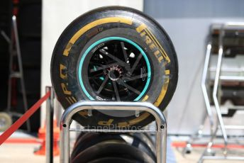 World © Octane Photographic Ltd. Formula 1 – Austrian GP - Pit Lane. Mercedes AMG Petronas Motorsport AMG F1 W10 EQ Power+ tyres. Red Bull Ring, Spielberg, Styria, Austria. Thursday 27th June 2019.