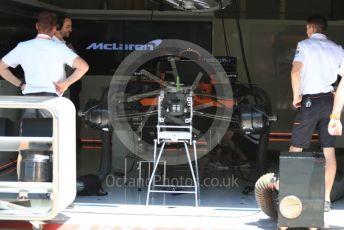 World © Octane Photographic Ltd. Formula 1 – Austrian GP - Pit Lane. McLaren MCL34. Red Bull Ring, Spielberg, Styria, Austria. Thursday 27th June 2019.