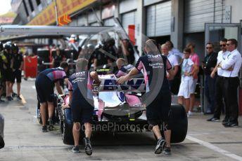 World © Octane Photographic Ltd. Formula 1 – Austrian GP - Paddock. SportPesa Racing Point RP19. Red Bull Ring, Spielberg, Styria, Austria. Thursday 27th June 2019.