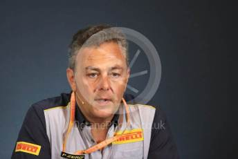 World © Octane Photographic Ltd. Formula 1 - Austrian GP – Friday FIA Team Press Conference. Mario Isola – Pirelli Head of Car Racing. Red Bull Ring, Spielberg, Styria, Austria. Thursday 27th June 2019.