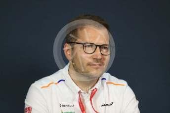 World © Octane Photographic Ltd. Formula 1 - Austrian GP – Friday FIA Team Press Conference. Andreas Seidl - Team Principal at McLaren. Red Bull Ring, Spielberg, Styria, Austria. Thursday 27th June 2019.
