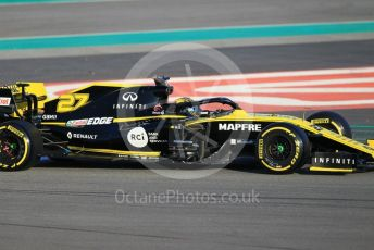 World © Octane Photographic Ltd. Formula 1 – Winter Testing - Test 1 - Day 1. Renault Sport F1 Team RS19 – Nico Hulkenberg. Circuit de Barcelona-Catalunya. Monday 18th February 2019.