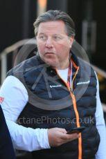 World © Octane Photographic Ltd. Formula 1 - Winter Testing - Test 1 - Day 1. Zak Brown - Executive Director of McLaren Technology Group. Circuit de Barcelona-Catalunya. Monday 18th February 2019