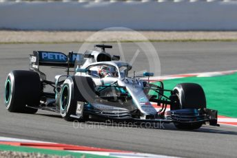 World © Octane Photographic Ltd. Formula 1 – Winter Testing - Test 1 - Day 1. Mercedes AMG Petronas Motorsport AMG F1 W10 EQ Power+ - Lewis Hamilton. Circuit de Barcelona-Catalunya. Monday 18th February 2019.