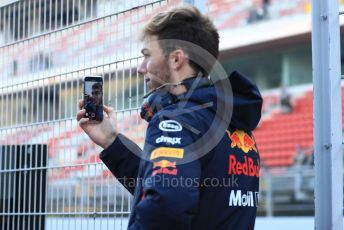 World © Octane Photographic Ltd. Formula 1 – Winter Testing - Test 1 - Day 1. Aston Martin Red Bull Racing – Pierre Gasly. Circuit de Barcelona-Catalunya. Monday 18th February 2019.