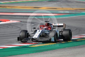 World © Octane Photographic Ltd. Formula 1 – Winter Testing - Test 1 - Day 1. Alfa Romeo Racing C38 – Kimi Raikkonen. Circuit de Barcelona-Catalunya. Monday 18th February 2019.