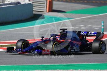 World © Octane Photographic Ltd. Formula 1 – Winter Testing - Test 1 - Day 1. Scuderia Toro Rosso STR14 – Daniil Kvyat. Circuit de Barcelona-Catalunya. Monday 18th February 2019.