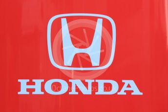 World © Octane Photographic Ltd. Formula 1 – Winter Testing - Test 1 - Day 1. Honda logo. Circuit de Barcelona-Catalunya. Monday 18th February 2019.