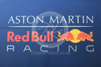 World © Octane Photographic Ltd. Formula 1 – Winter Testing - Test 1 - Day 1. Aston Martin Red Bull Racing logo. Circuit de Barcelona-Catalunya. Monday 18th February 2019.