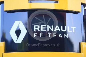 World © Octane Photographic Ltd. Formula 1 – Winter Testing - Test 1 - Day 1. Renault F1 Team logo. Circuit de Barcelona-Catalunya. Monday 18th February 2019.