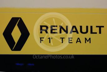 World © Octane Photographic Ltd. Formula 1 – Winter Testing - Test 1 - Day 1. Renault F1 Team logo. Circuit de Barcelona-Catalunya. Monday 18th February 2019.