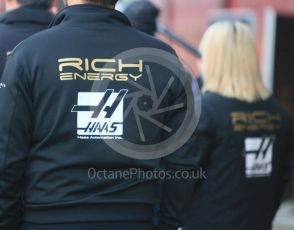 World © Octane Photographic Ltd. Formula 1 – Winter Testing - Test 1 - Day 1. Rich Energy Haas F1 Team logo. Circuit de Barcelona-Catalunya. Monday 18th February 2019.