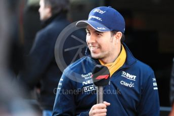 World © Octane Photographic Ltd. Formula 1 – Winter Testing - Test 1 - Day 2. SportPesa Racing Point RP19 - Sergio Perez. Circuit de Barcelona-Catalunya. Tuesday 19th February 2019.