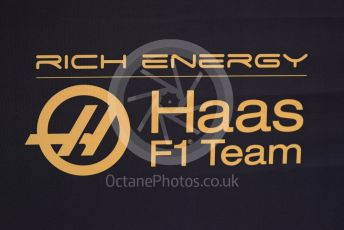 World © Octane Photographic Ltd. Formula 1 – Winter Testing - Test 1 - Day 3. Rich Energy Haas F1 Team logo. Circuit de Barcelona-Catalunya. Wednesday 20th February 2019.