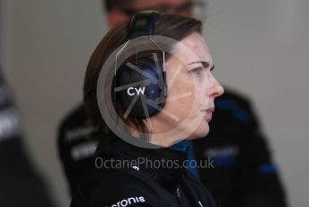 World © Octane Photographic Ltd. Formula 1 - Winter Testing - Test 1 - Day 3. Claire Williams - Deputy Team Principal of ROKiT Williams Racing. Circuit de Barcelona-Catalunya. Wednesday 20th February 2019
