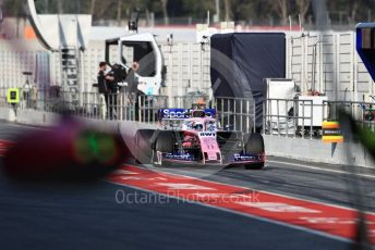 World © Octane Photographic Ltd. Formula 1 – Winter Testing - Test 1 - Day 3. SportPesa Racing Point RP19 - Sergio Perez. Circuit de Barcelona-Catalunya. Wednesday 20th February 2019.