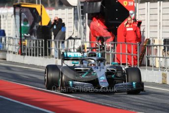 World © Octane Photographic Ltd. Formula 1 – Winter Testing - Test 1 - Day 3. Mercedes AMG Petronas Motorsport AMG F1 W10 EQ Power+ - Lewis Hamilton. Circuit de Barcelona-Catalunya. Wednesday 20th February 2019.