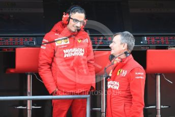 World © Octane Photographic Ltd. Formula 1 - Winter Testing - Test 1 - Day 4. Laurent Mekies and Thierry Baritaud - Head of Energy Recovery Systems. Circuit de Barcelona-Catalunya. Thursday 21st February 2019