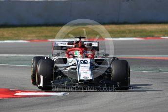 World © Octane Photographic Ltd. Formula 1 – Winter Testing - Test 1 - Day 4. Alfa Romeo Racing C38 – Antonio Giovinazzi. Circuit de Barcelona-Catalunya. Thursday 21st February 2019.