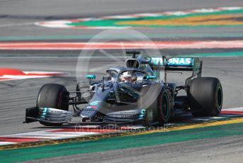 World © Octane Photographic Ltd. Formula 1 – Winter Testing - Test 1 - Day 4. Mercedes AMG Petronas Motorsport AMG F1 W10 EQ Power+ - Lewis Hamilton. Circuit de Barcelona-Catalunya. Thursday 21st February 2019