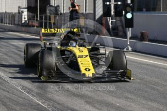 World © Octane Photographic Ltd. Formula 1 – Winter Testing - Test 2 - Day 1. Renault Sport F1 Team RS19 – Nico Hulkenberg. Circuit de Barcelona-Catalunya. Tuesday 26th February 2019.