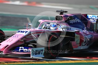 World © Octane Photographic Ltd. Formula 1 – Winter Testing - Test 2 - Day 4. SportPesa Racing Point RP19 - Sergio Perez. Circuit de Barcelona-Catalunya. Friday 1st March 2019.