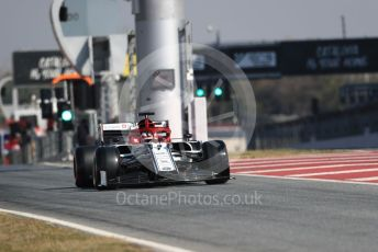 World © Octane Photographic Ltd. Formula 1 – Winter Testing - Test 2 - Day 4. Alfa RomeoRacing C38 – Kimi Raikkonen. Circuit de Barcelona-Catalunya. Friday 1st March 2019.