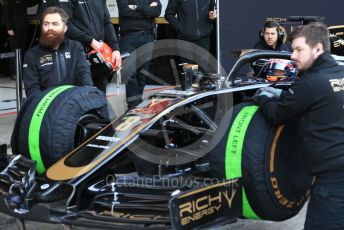 World © Octane Photographic Ltd. Formula 1 – Winter Testing - Test 2 - Day 4. Rich Energy Haas F1 Team VF19 – Romain Grosjean. Circuit de Barcelona-Catalunya. Friday 1st March 2019.