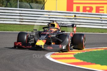 World © Octane Photographic Ltd. Formula 1 – Belgium GP - Practice 1. Aston Martin Red Bull Racing RB15 – Max Verstappen. Circuit de Spa Francorchamps, Belgium. Friday 30th August 2019.