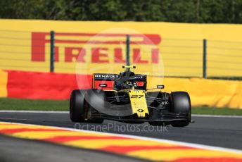 World © Octane Photographic Ltd. Formula 1 – Belgium GP - Practice 1. Renault Sport F1 Team RS19 – Nico Hulkenberg. Circuit de Spa Francorchamps, Belgium. Friday 30th August 2019.