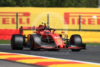 World © Octane Photographic Ltd. Formula 1 – Belgium GP - Practice 1. Scuderia Ferrari SF90 – Charles Leclerc. Circuit de Spa Francorchamps, Belgium. Friday 30th August 2019.