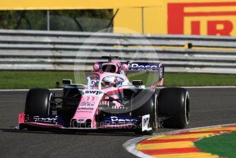 World © Octane Photographic Ltd. Formula 1 – Belgium GP - Practice 1. SportPesa Racing Point RP19 - Sergio Perez. Circuit de Spa Francorchamps, Belgium. Friday 30th August 2019.