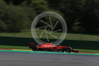 World © Octane Photographic Ltd. Formula 1 – Belgium GP - Practice 2. Scuderia Ferrari SF90 – Charles Leclerc. Circuit de Spa Francorchamps, Belgium. Friday 30th August 2019.