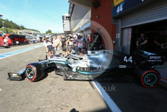 World © Octane Photographic Ltd. Formula 1 – Belgium GP - Practice 3. Mercedes AMG Petronas Motorsport AMG F1 W10 EQ Power+ - Lewis Hamilton. Circuit de Spa Francorchamps, Belgium. Saturday 31st August 2019.