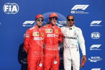 World © Octane Photographic Ltd. Formula 1 – Belgium GP - Qualifying. Scuderia Ferrari SF90 – Charles Leclerc, Sebastian Vettel  and Mercedes AMG Petronas Motorsport AMG F1 W10 EQ Power+ - Lewis Hamilton.  Circuit de Spa Francorchamps, Belgium. Saturday 31st August 2019.