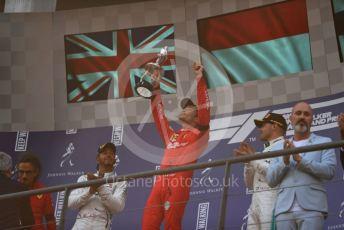 World © Octane Photographic Ltd. Formula 1 – Belgium GP - Race Podium. Scuderia Ferrari SF90 – Charles Leclerc, Mercedes AMG Petronas Motorsport AMG F1 W10 EQ Power+ - Lewis Hamilton and Valtteri Bottas. Circuit de Spa Francorchamps, Belgium. Sunday 1st September 2019.