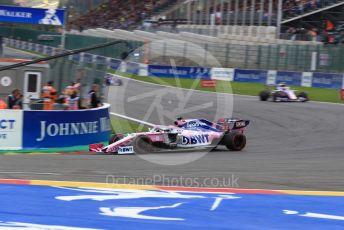 World © Octane Photographic Ltd. Formula 1 – Belgium GP - Race. SportPesa Racing Point RP19 - Sergio Perez. Circuit de Spa Francorchamps, Belgium. Sunday 1st September 2019.