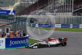 World © Octane Photographic Ltd. Formula 1 – Belgium GP - Race. Alfa Romeo Racing C38 – Kimi Raikkonen. Circuit de Spa Francorchamps, Belgium. Sunday 1st September 2019.
