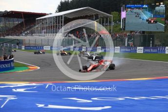 World © Octane Photographic Ltd. Formula 1 – Belgium GP - Race. Scuderia Ferrari SF90 – Sebastian Vettel. Circuit de Spa Francorchamps, Belgium. Sunday 1st September 2019.