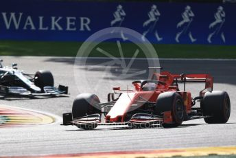 World © Octane Photographic Ltd. Formula 1 – Belgium GP - Race. Scuderia Ferrari SF90 – Sebastian Vettel. Circuit de Spa Francorchamps, Belgium. Sunday 1st September 2019.